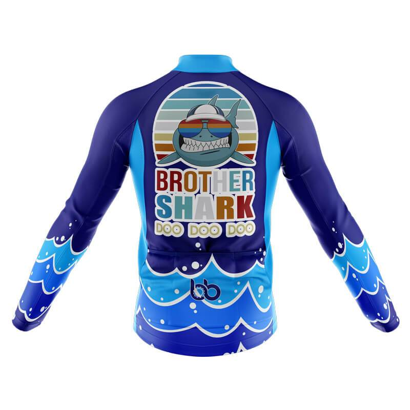 Bicycle Booth Long Sleeve Jerseys XXS / Male Brother Shark Long Sleeve Jersey (V1)
