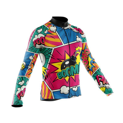 Bicycle Booth Long Sleeve Jerseys Comic Long Sleeve Jersey (V3)