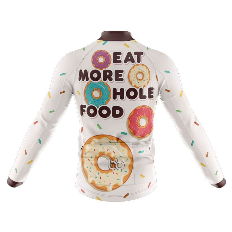Bicycle Booth Long Sleeve Jerseys XXS / Male Eat more hole foods Long Sleeve Jersey (V3)