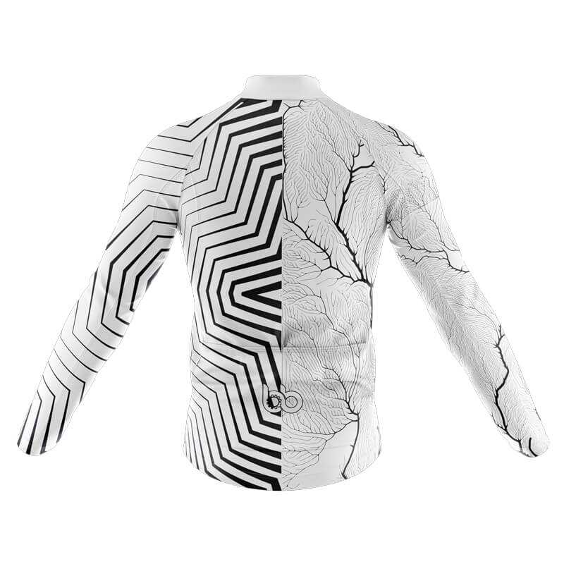 Bicycle Booth Long Sleeve Jerseys XXS / Male Half Abstract and Half Formal Long Sleeve Jersey (V3)