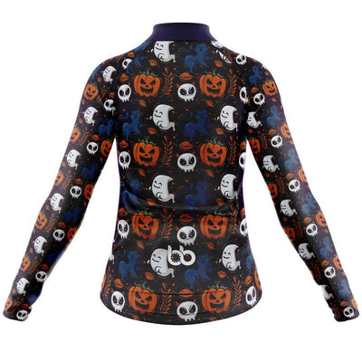 Bicycle Booth Long Sleeve Jerseys Halloween Long Sleeve Jersey (V3)