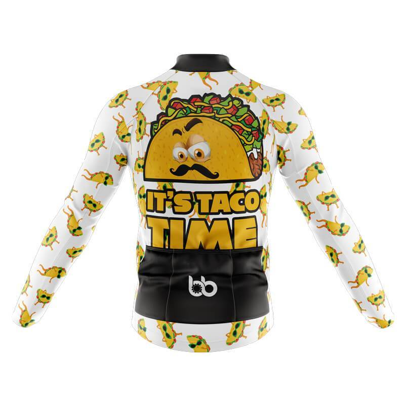 Bicycle Booth Long Sleeve Jerseys XXS / Male It's Taco Time Long Sleeve Jersey (V3)