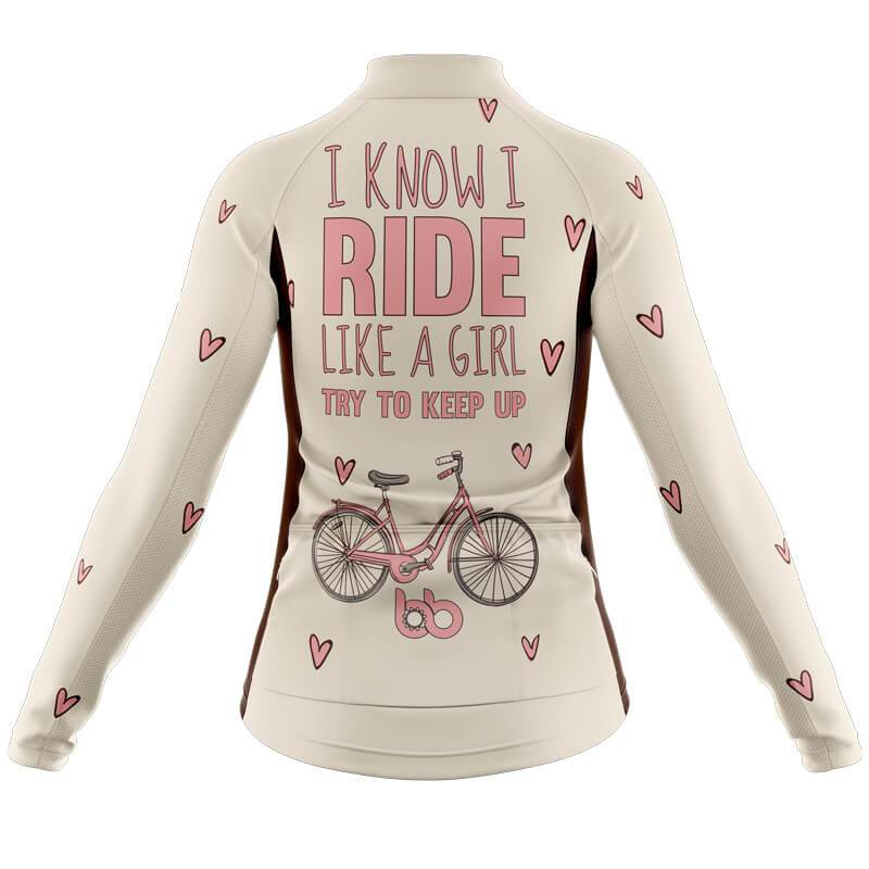 Bicycle Booth Long Sleeve Jerseys XXS / Female Like A Girl Long Sleeve Jersey (V1)