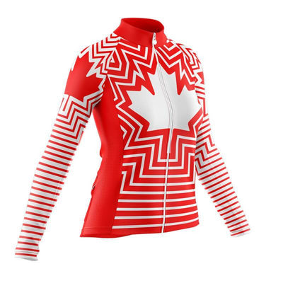 Bicycle Booth Long Sleeve Jerseys Long Sleeve Team Canada Jersey