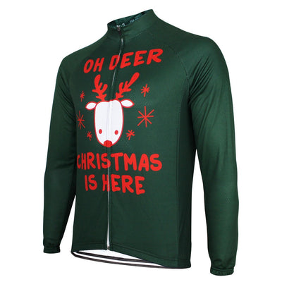 Bicycle Booth Long Sleeve Jerseys Oh Deer It's Christmas Long Sleeve Jersey