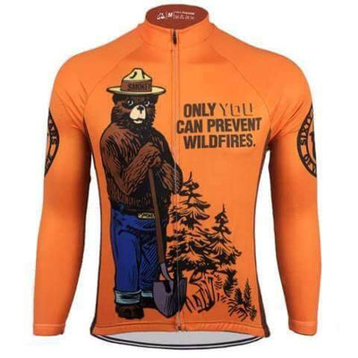 Bicycle Booth Long Sleeve Jerseys Smokey Bear Long Sleeve Jersey