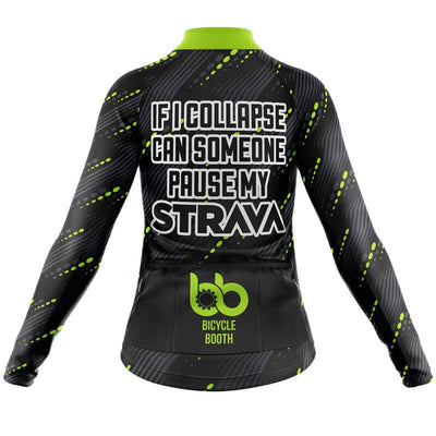 Bicycle Booth Long Sleeve Jerseys Turn on Strava Long Sleeve Jersey (V3)