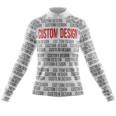 Bicycle Booth Long Sleeve Jerseys XXS / Female Custom Design Long Sleeve Jersey
