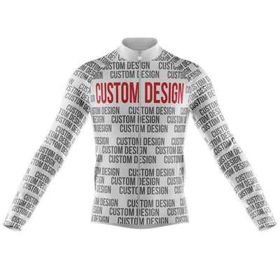 Bicycle Booth Long Sleeve Jerseys XXS / Male Custom Design Long Sleeve Jersey