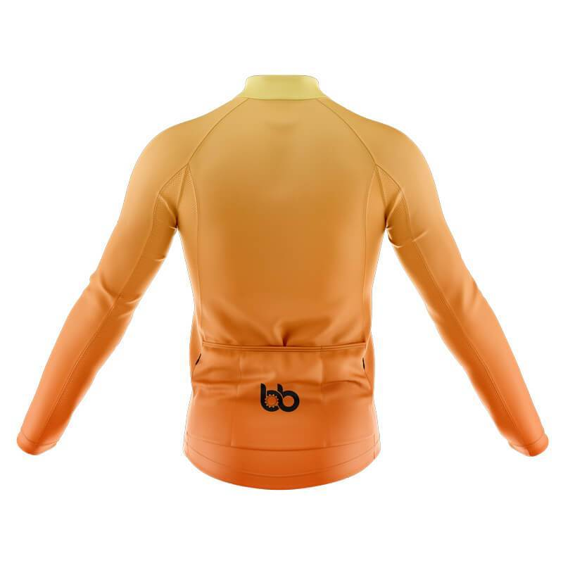 Bicycle Booth Long Sleeve Jerseys XXS / Male Yellow Gradient Long Sleeve Jersey