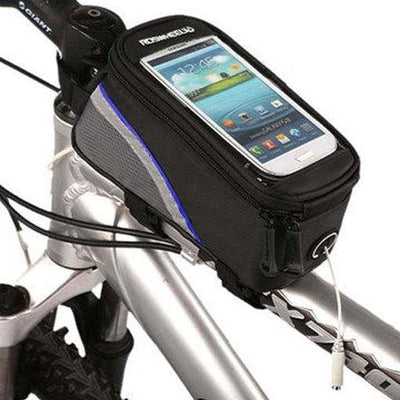 Bicycle Booth Phone Bag Black & Blue stripe / L RosWheel Cycling Phone Bag
