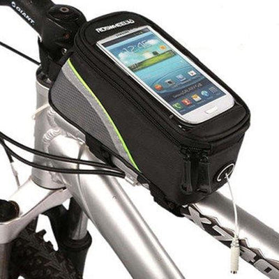 Bicycle Booth Phone Bag Black & Green stripe / L RosWheel Cycling Phone Bag