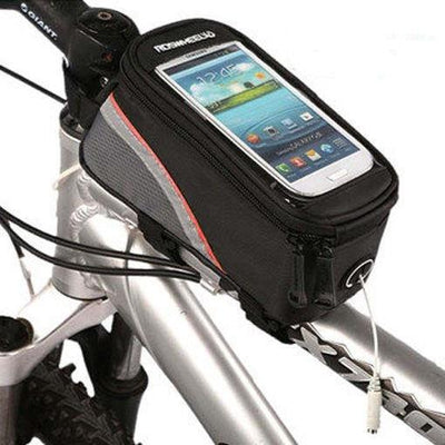 Bicycle Booth Phone Bag Black & Red stripe / L RosWheel Cycling Phone Bag