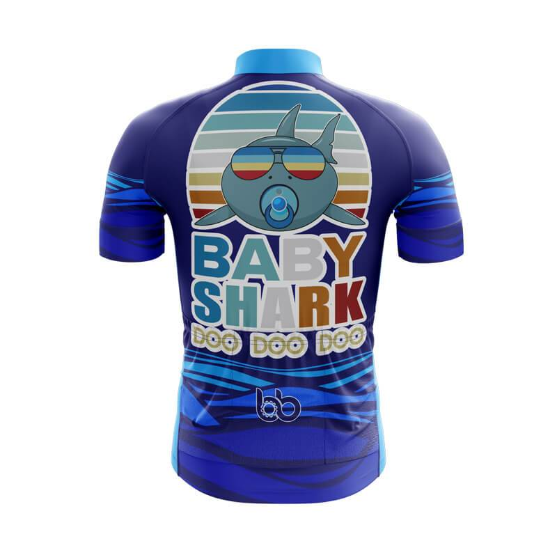 Bicycle Booth Short Sleeve Jersey XXS / Male Baby Shark Cycling Jersey (V3)