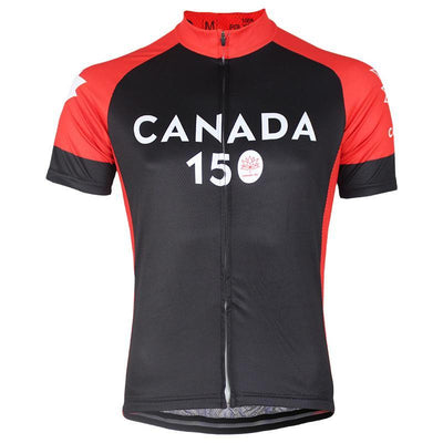 Bicycle Booth Short Sleeve Jersey Black Canada 150 Jersey