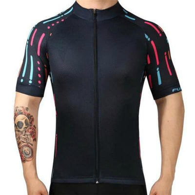 Bicycle Booth Short Sleeve Jersey Black Side Lines Jersey