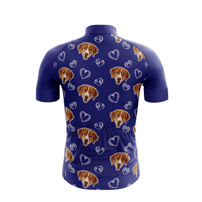 Bicycle Booth Short Sleeve Jersey Dog Lover Custom Jersey