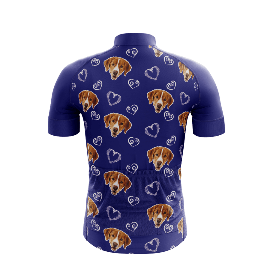 Bicycle Booth Short Sleeve Jersey XXS / Male / Blue Dog Lover Custom Jersey