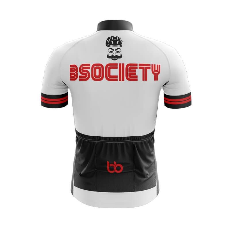 Bicycle Booth Short Sleeve Jersey XXS / Male F Society Jersey (V1) (White)