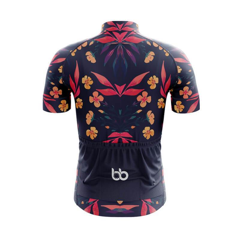Bicycle Booth Short Sleeve Jersey XXS / Male Floral Jersey (V3)