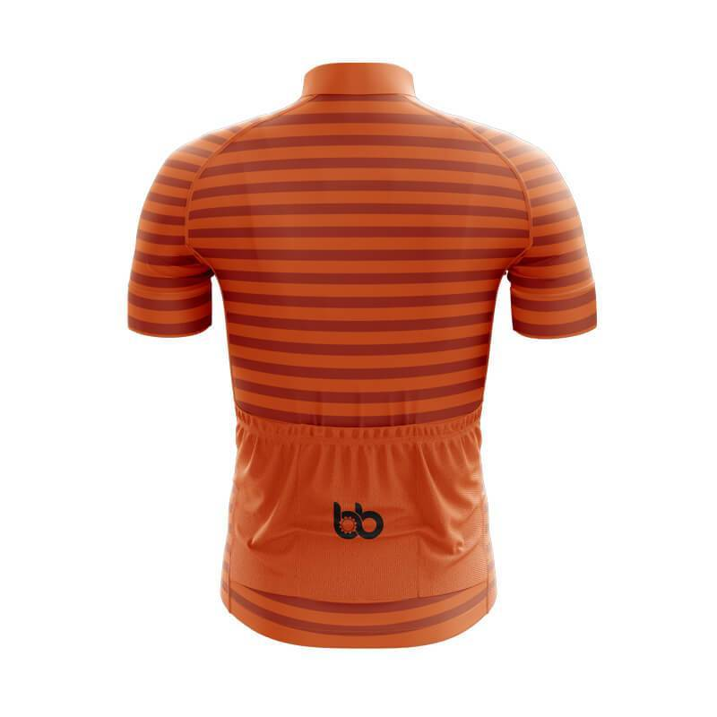 Bicycle Booth Short Sleeve Jersey XXS / Male Hi-Viz Orange Stripe Jersey