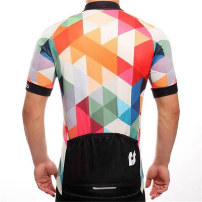 Bicycle Booth Short Sleeve Jersey Orange & Black Zigzag Jersey