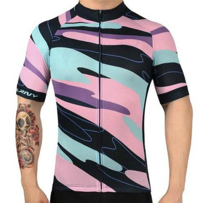 Bicycle Booth Short Sleeve Jersey Paint Bucket Jersey