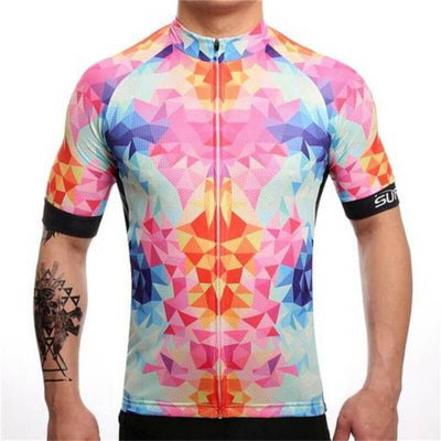 Bicycle Booth Short Sleeve Jersey Pink and Blue Dream Time Jersey