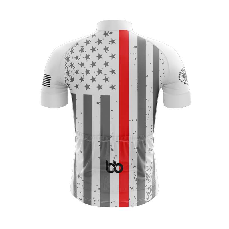 Bicycle Booth Short Sleeve Jersey XXS / Male Tactical Thin Red Flag Jersey