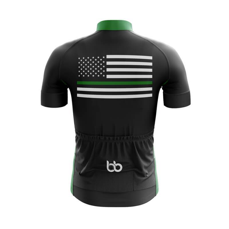 Bicycle Booth Short Sleeve Jersey XXS / Male / Black Thin Green Line Jersey