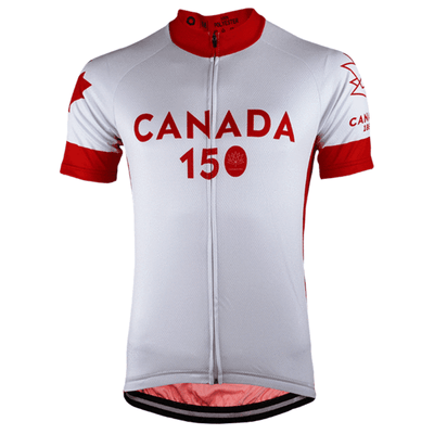 Bicycle Booth Short Sleeve Jersey White Canada 150 Jersey
