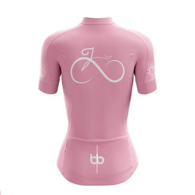 Bicycle Booth Short Sleeve Jersey Women's Bike Forever Jersey (V2-Pink)
