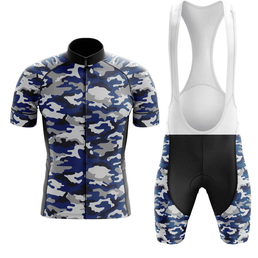 Bicycle Booth Short Sleeve Kit S / Blue / Shorts Set Mens Tactical Camouflage Jersey Kit