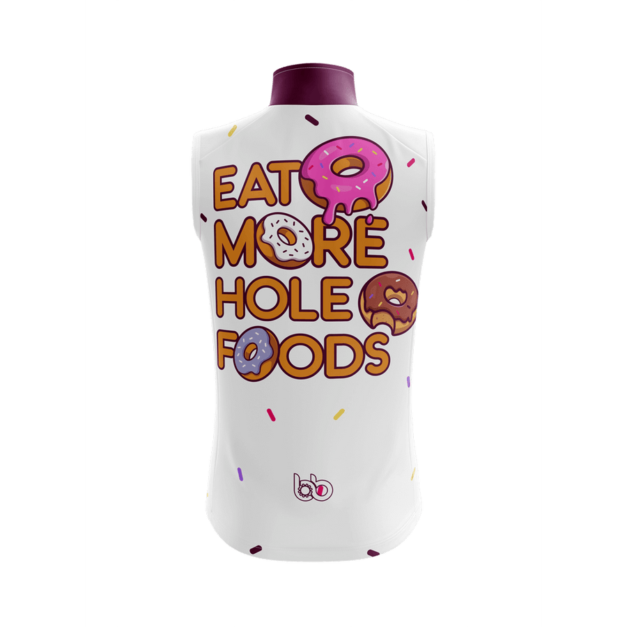 Bicycle Booth Sleeveless Jerseys XXS / Male Eat more hole foods Sleeveless Jersey (V4)