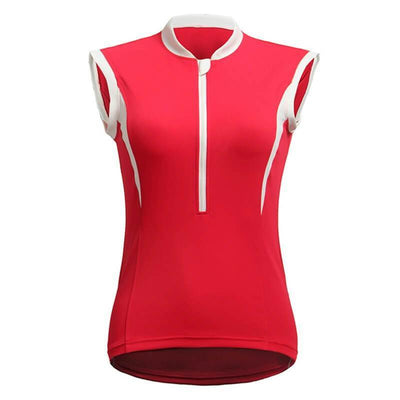 Bicycle Booth Sleeveless Jerseys Red with White Line Sleeveless Jersey