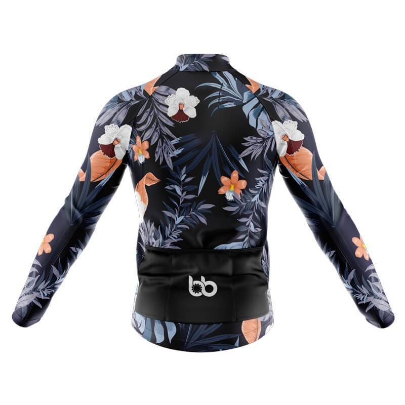 Bicycle Booth Thermal Jerseys XXS / Male Floral Design 2 (V8) Thermal Jersey