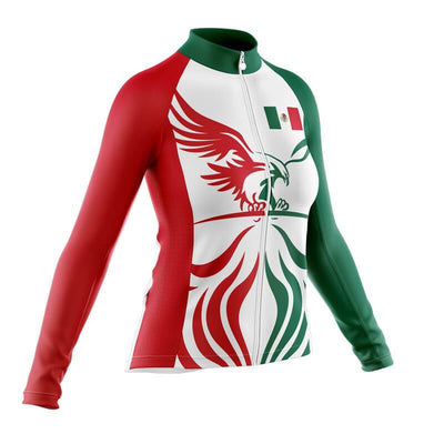 Bicycle Booth Thermal Jerseys Mexico Flag (V8) Thermal Jersey