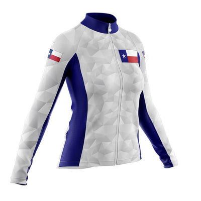 Bicycle Booth Thermal Jerseys Polygonal Texas Flag Thermal Jersey