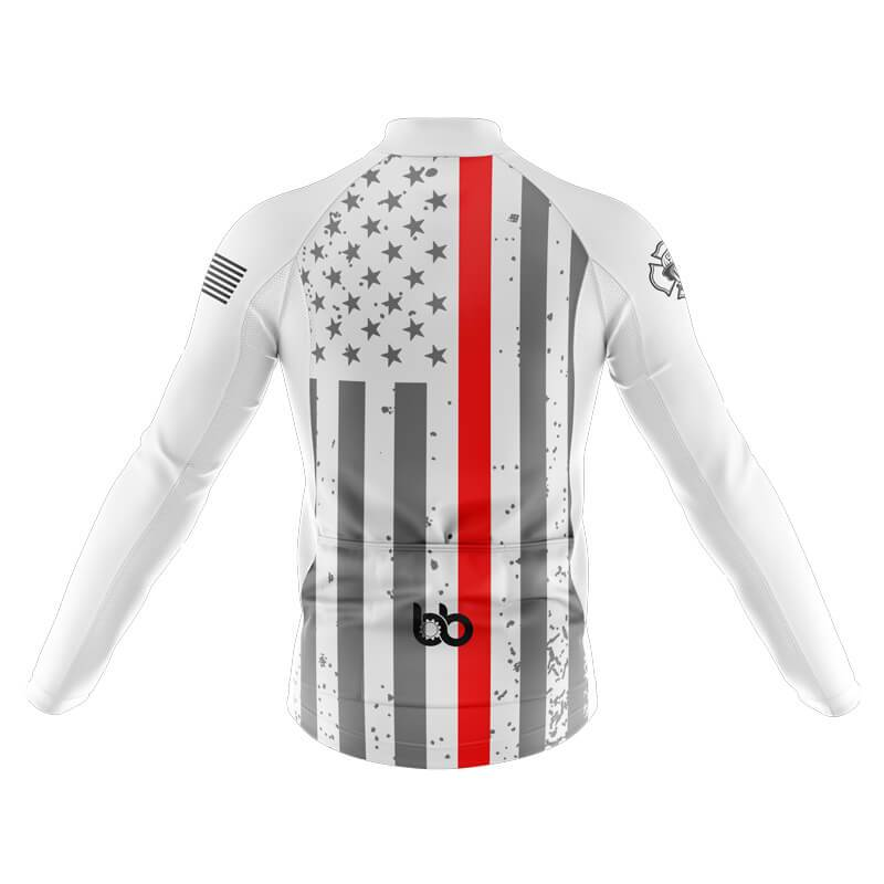 Bicycle Booth Thermal Jerseys XXS / Male Tactical Thin Red Flag Thermal Jersey
