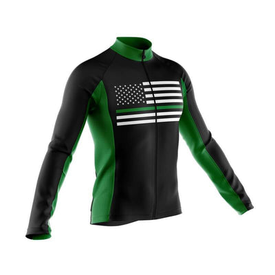 Bicycle Booth Thermal Jerseys Thin Green Line Thermal Jersey