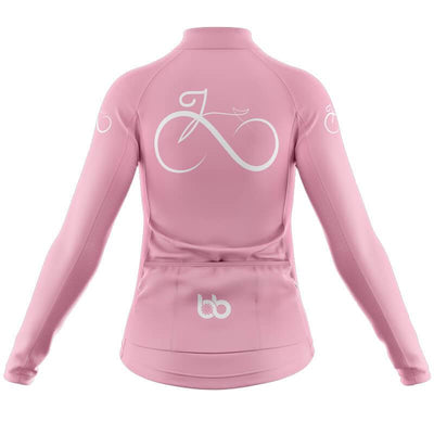 Bicycle Booth Thermal Jerseys Women's Bike Forever Thermal Jersey (V1-Pink)
