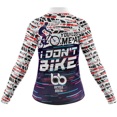 Bicycle Booth Thermal Jerseys You lost me at I don't bike Thermal Jersey (V1)