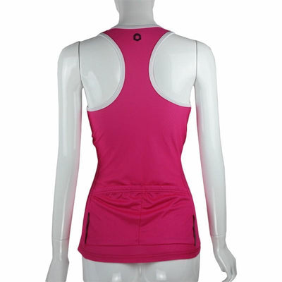 Canadian Bicycle Booth Pink Sexy Back Sleeveless Jersey