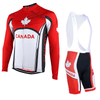HIRBGOD Official Store Jersey and Bib Shorts / XS / Male Team Canada Long Sleeve Set