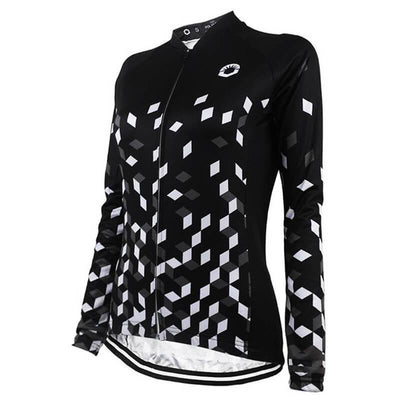 HIRBGOD Official Store Long Sleeve Jerseys Black Retro Long Sleeve Jersey