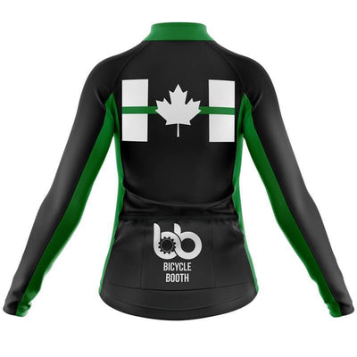 HIRBGOD Official Store Long Sleeve Jerseys Canada Flag Thin Green Line Thermal Jersey