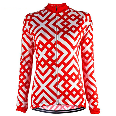 HIRBGOD Official Store Long Sleeve Jerseys Red Cross Long Sleeve Jersey