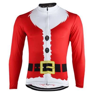 NorthMountain Store Long Sleeve Jerseys Mens Long Sleeve Santa's Beard Jersey
