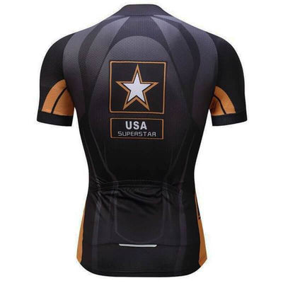 NorthMountain Store Short Sleeve Jersey USA Superstar Jersey