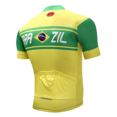 Outdoor Cycling World Store Short Sleeve Jersey Brazil Cycling Jersey